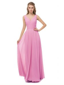 Babaroni bridesmaid dresses Cassiopeia candy pink