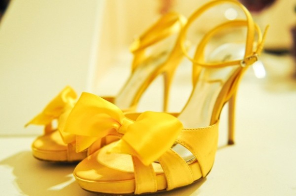 babaroni yellow bridesmaid dresses shoes