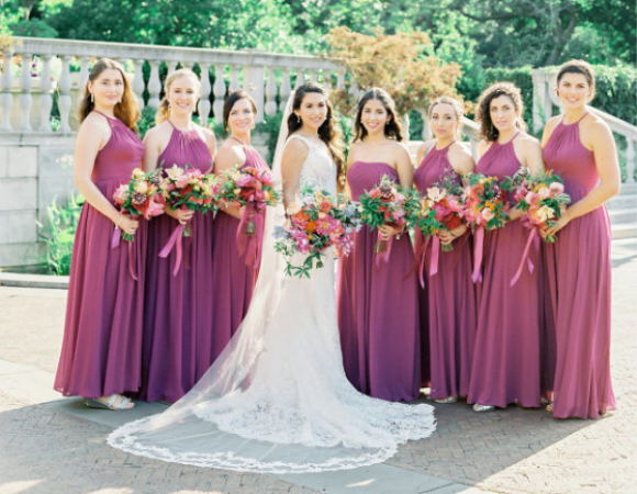 How To Organize A Purple Wedding 8 Styles Of Purple Bridesmaid Dresses