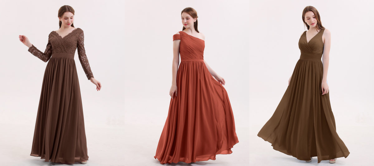 124a77445342 Where to Buy Brown Bridesmaid Dress? | 3 Different Shades of Brown Bridesmaid  Dress on Babaroni