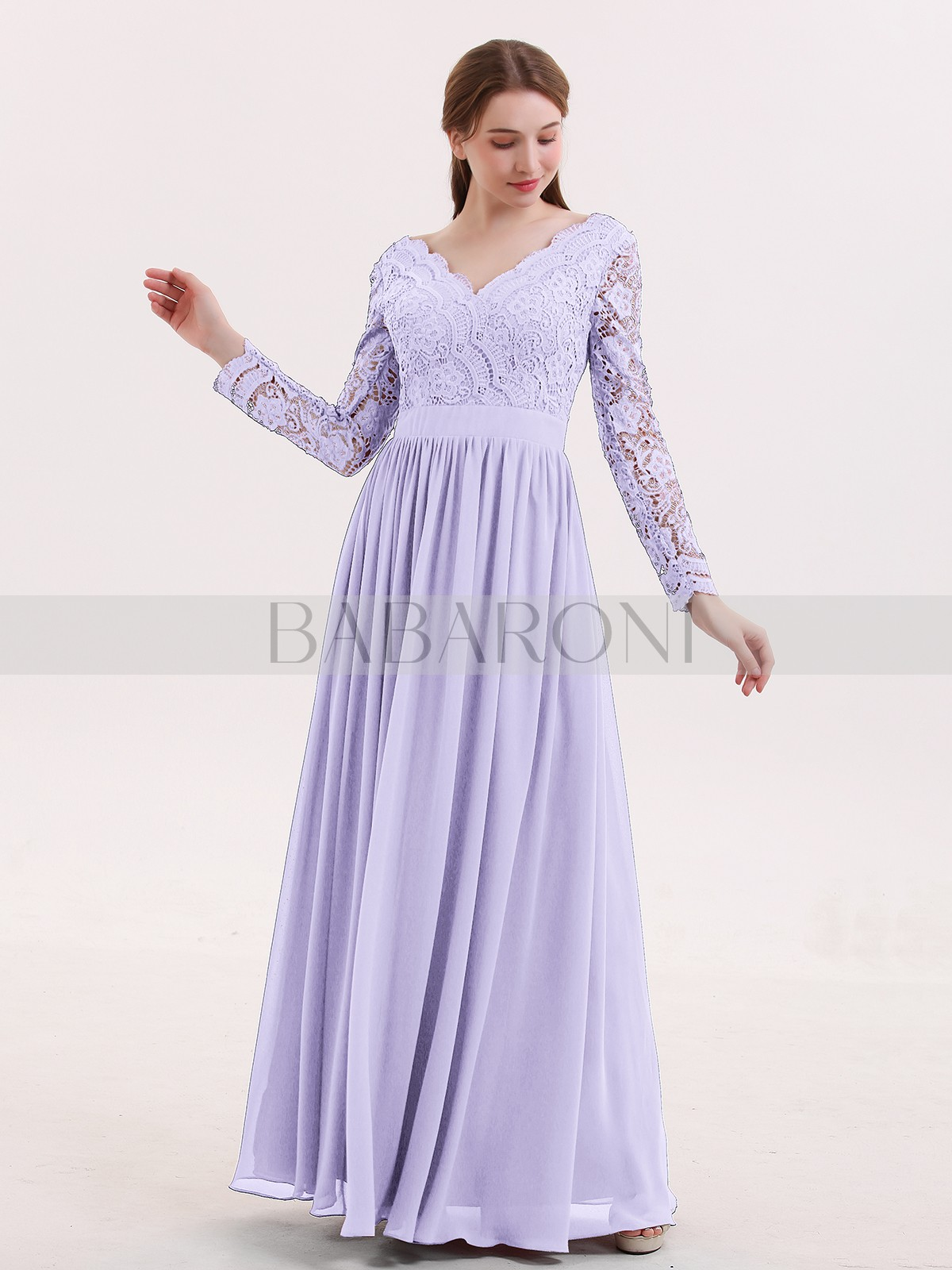 0497733f7 A-line Lace Cabernet Zipper Lace, Ruched Floor-length V-neck Long. Loading  zoom