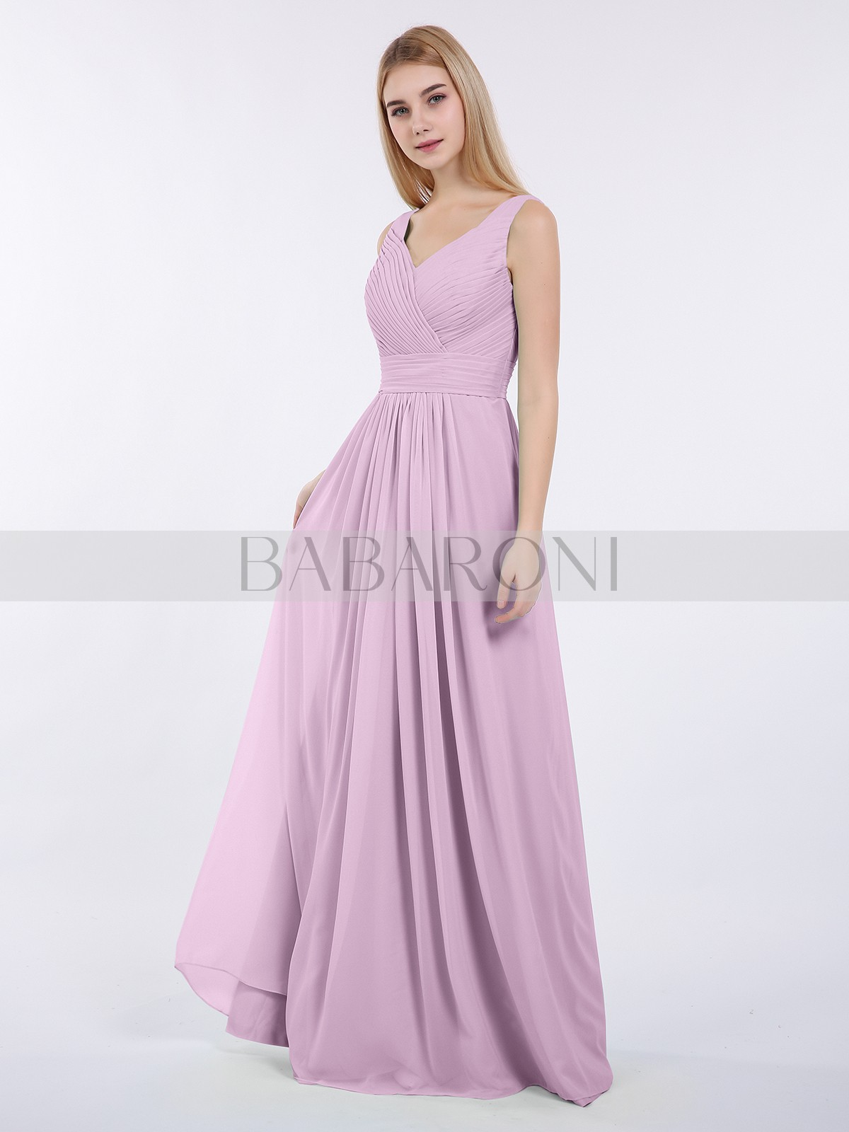 e5e4c5135cecf A-line Chiffon Mint Green Zipper Ruched, Pleated Floor-length V-neck.  Loading zoom