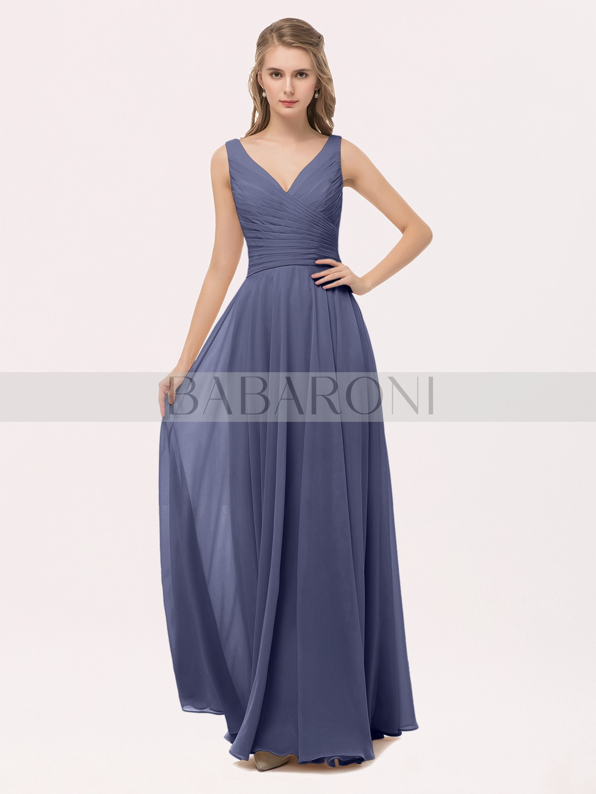 df7e12dc464b Stormy Cassiopeia V Neck Long Chiffon Dress with Bow