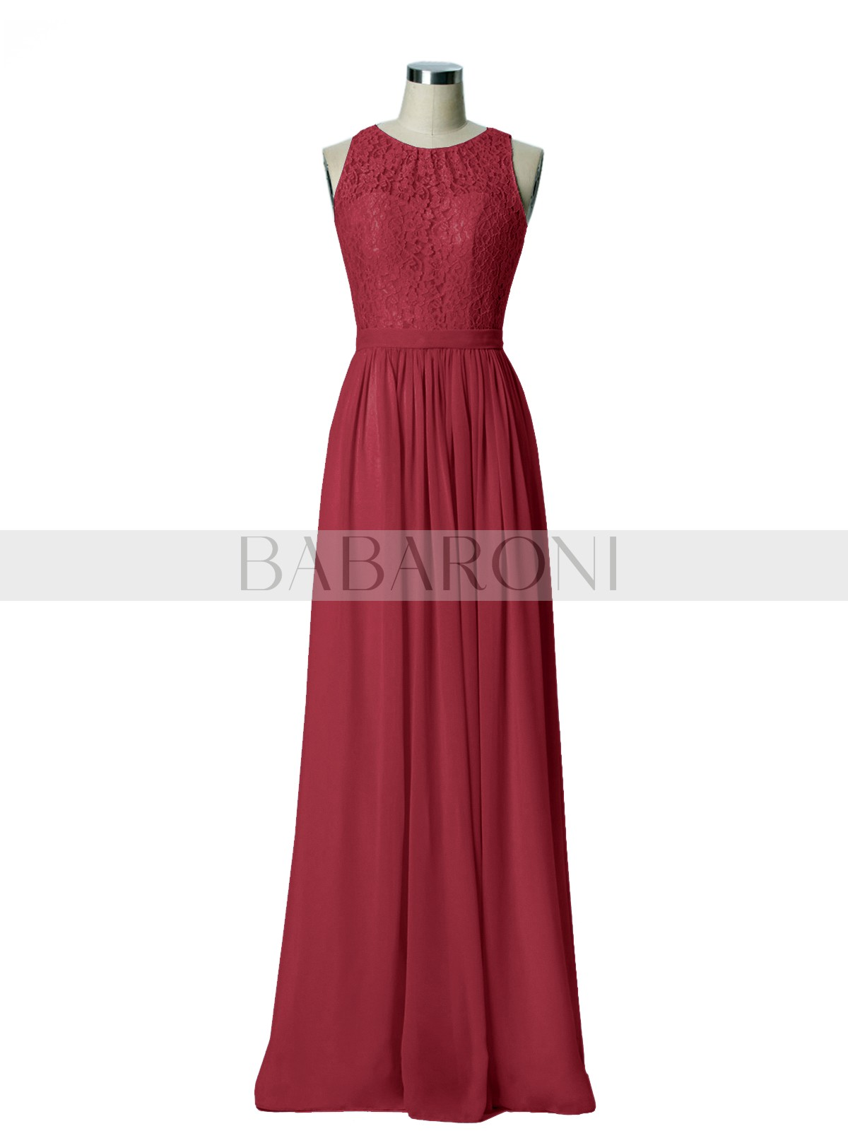 ad68c3d245c8 ... Long Bridesmaid Dresses; Babaroni Gwendolyn. A-line Chiffon Mint Green  Zipper Lace, Ruched Floor-length Scoop Sleeveless Long. Loading zoom