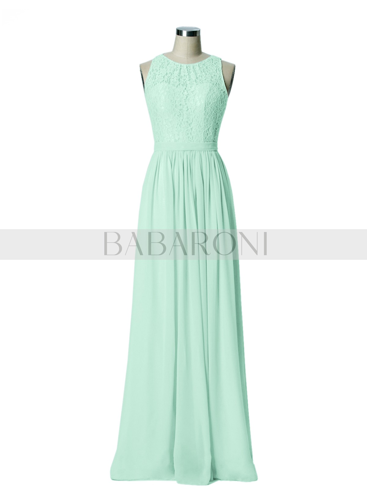 3b9e8e841ed Mint Green Gwendolyn Lace And Chiffon Long Gown of Bridesmaids ...