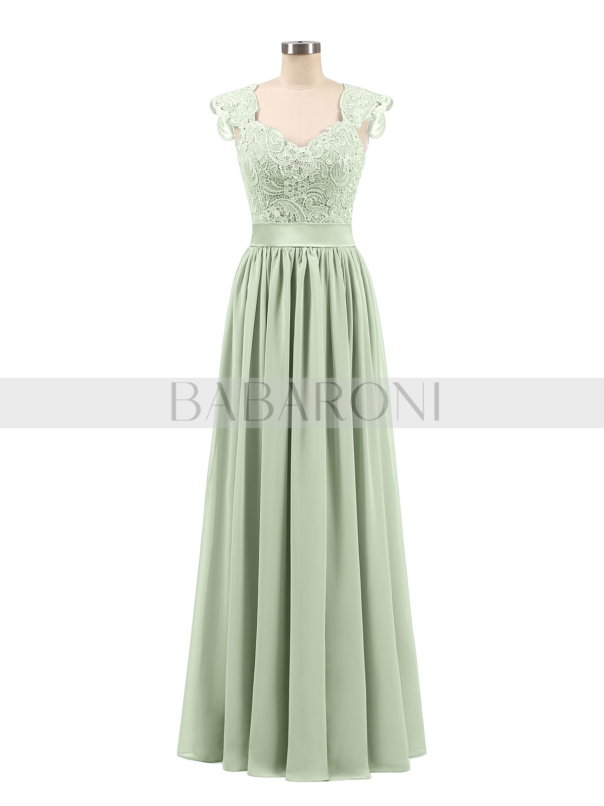 06a3b928e7aa A-line Chiffon Silver Zipper Side Appliqued, Pleated Floor-length Scoop  Sleeveless Long. Loading zoom