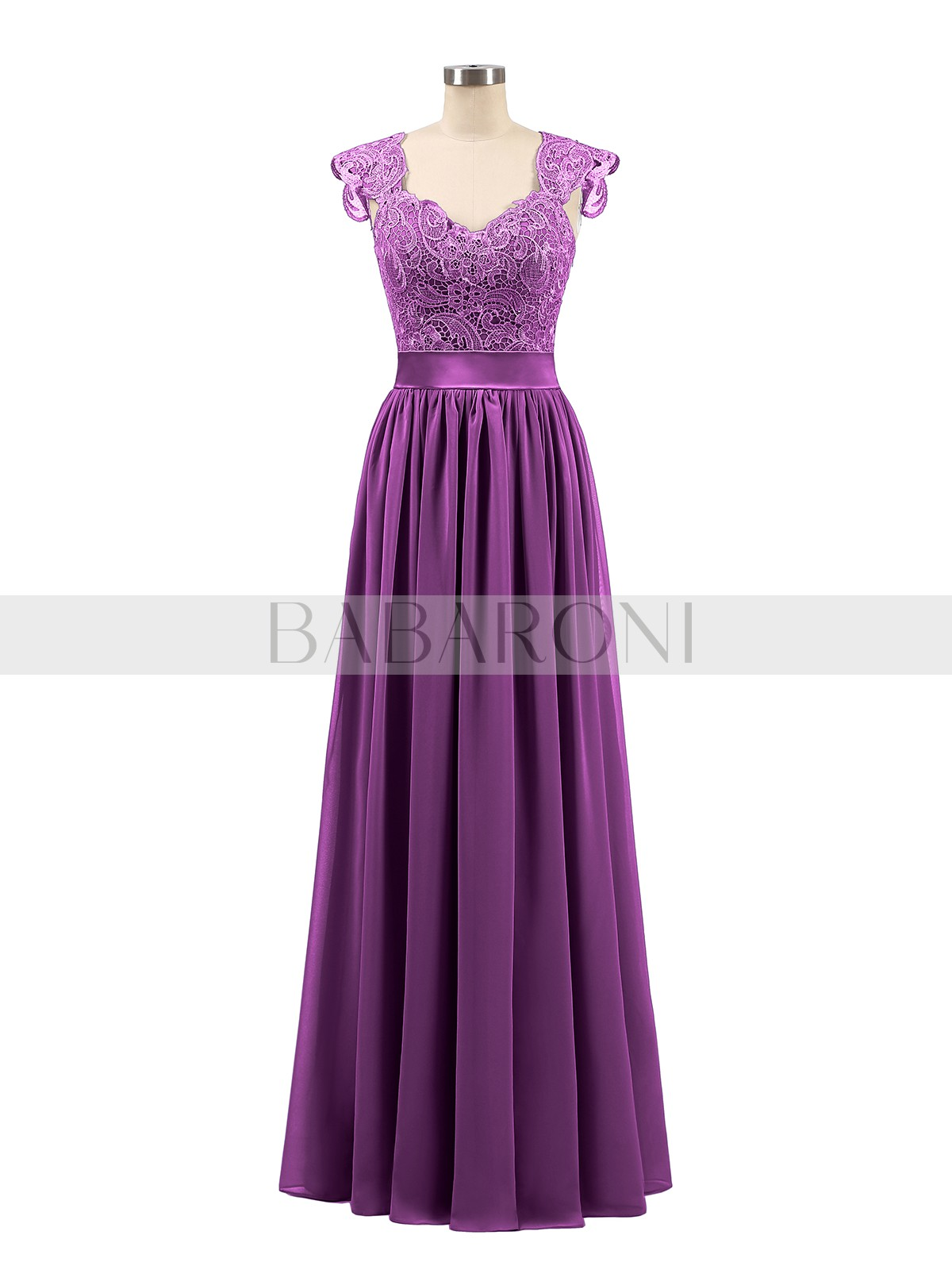 6c3e95556141 Home · Bridesmaid Dresses; Babaroni Jennifer. A-line Chiffon Silver Zipper  Side Appliqued, Pleated Floor-length Scoop Sleeveless Bridesmaid. Loading  zoom
