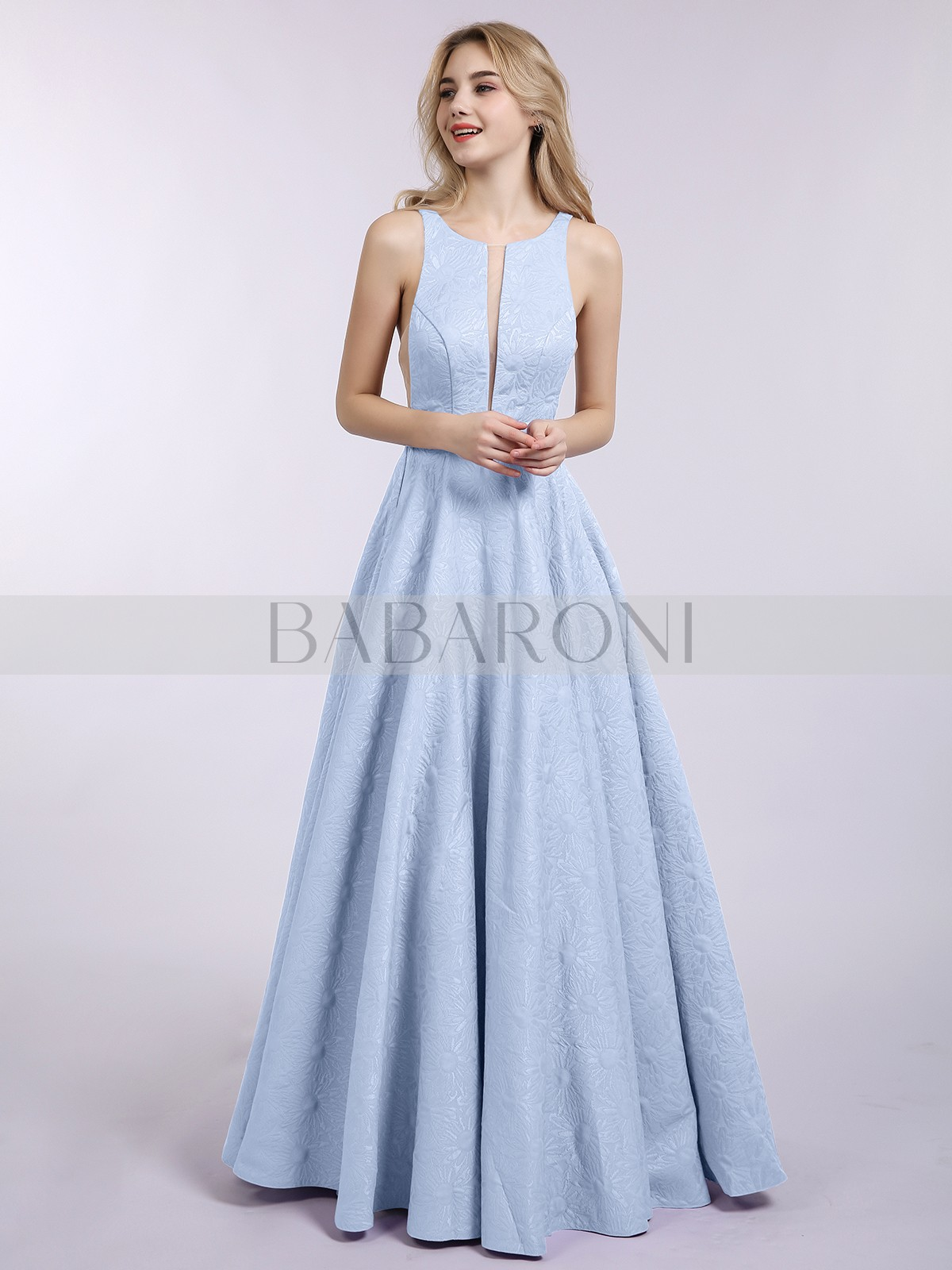 ed4ee05db9b Laura Princess Long Floral Simple Prom Dress