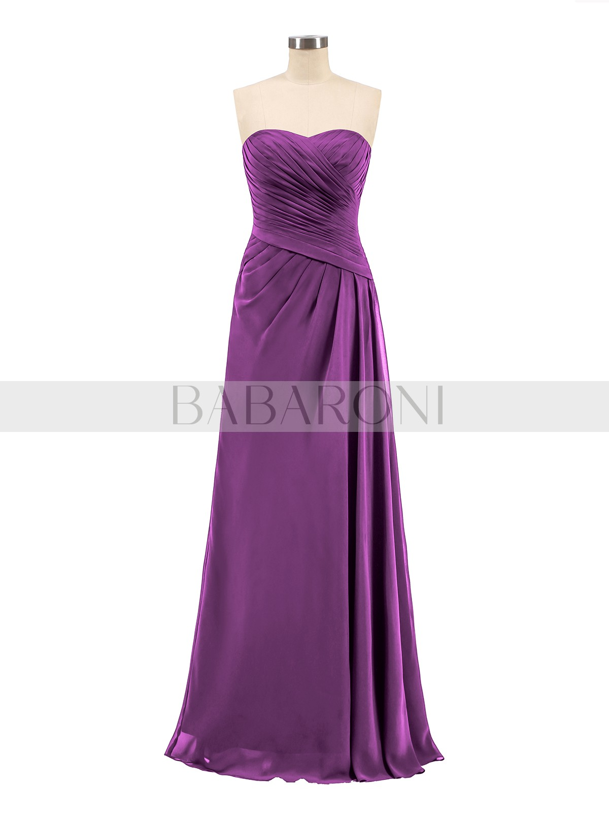 2f1bd69f9cd Grape Madeline Strapless Sweetheart Neck Chiffon Bridesmaid Gown ...