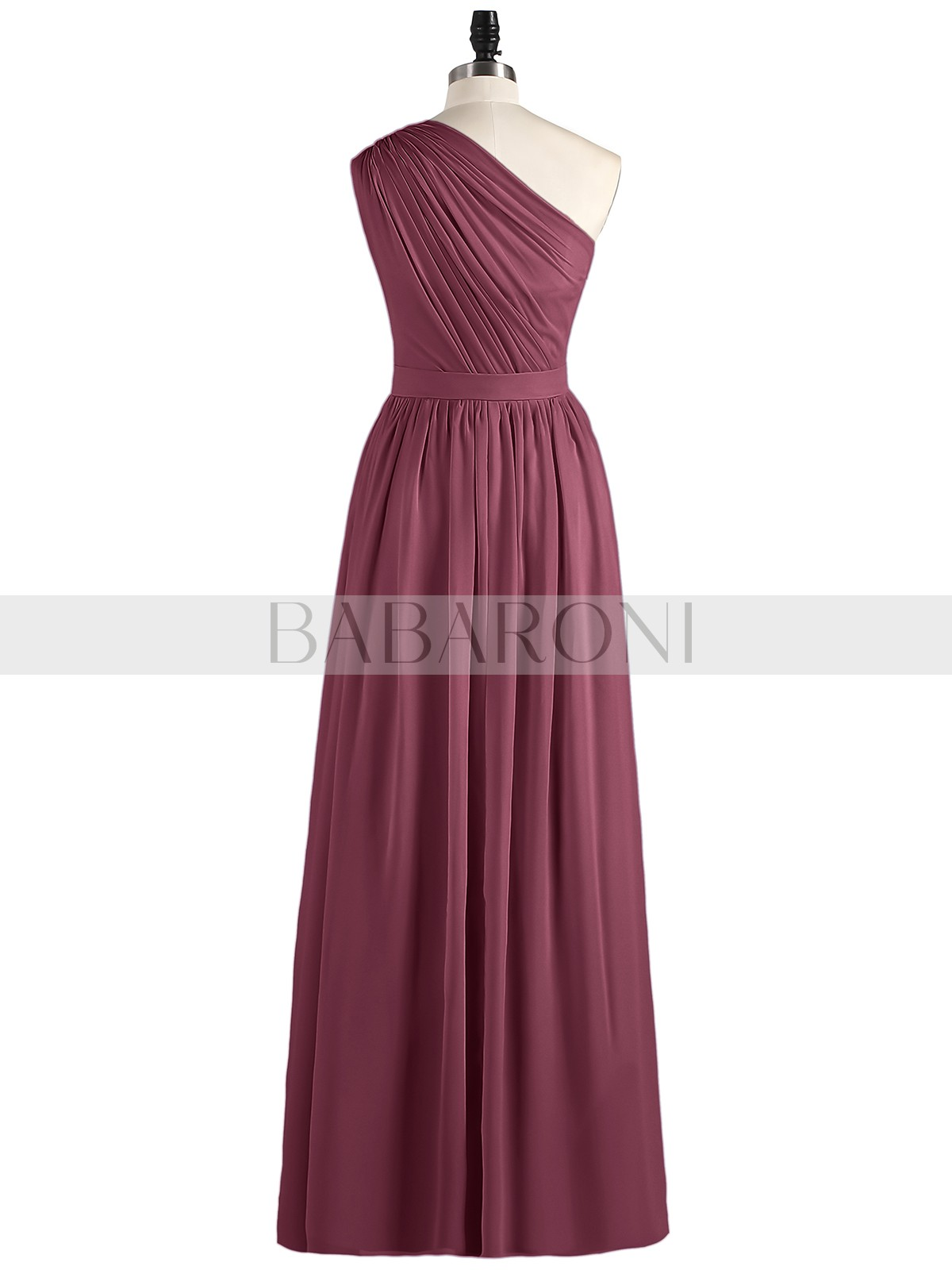 Cocktail Bridesmaid Party Dress Long Chiffon One Shoulder Size 16 PINK FUCHSIA