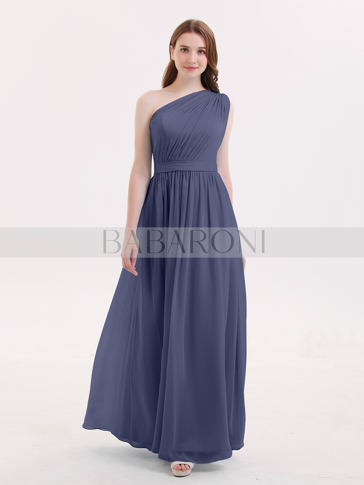 9fe3e984e1f One Shoulder Bridesmaid Dresses Grey