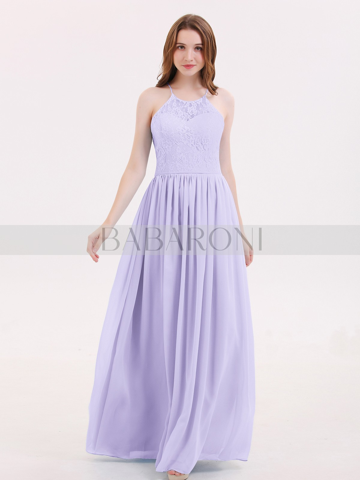 8afe7fffda355 A-line Chiffon Sky Blue Lace-up Lace, Ruched Floor-length Halter. Loading  zoom