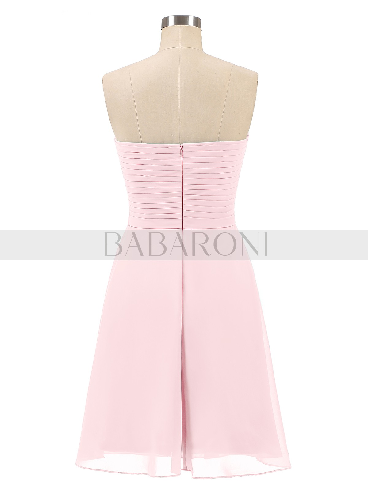 c0462095a1c Blushing Pink Samantha Short Strapless Bridesmaid Dress with Sweetheart