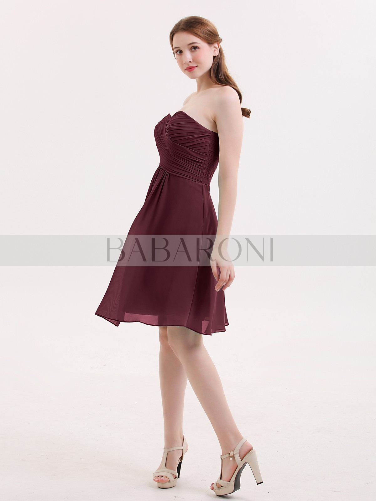 1e7647b1b6b Samantha Short Strapless Bridesmaid Dress with Sweetheart