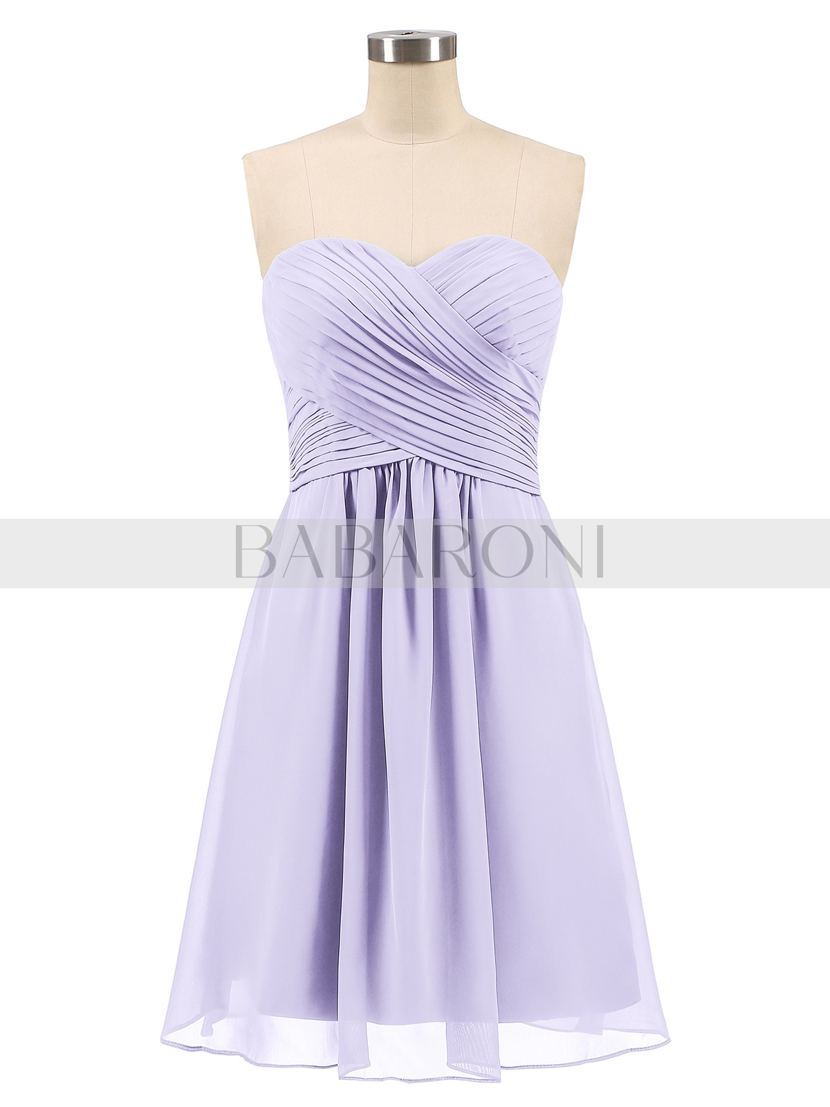 37fb28d8cc2 Lilac Samantha Short Strapless Bridesmaid Dress with Sweetheart ...