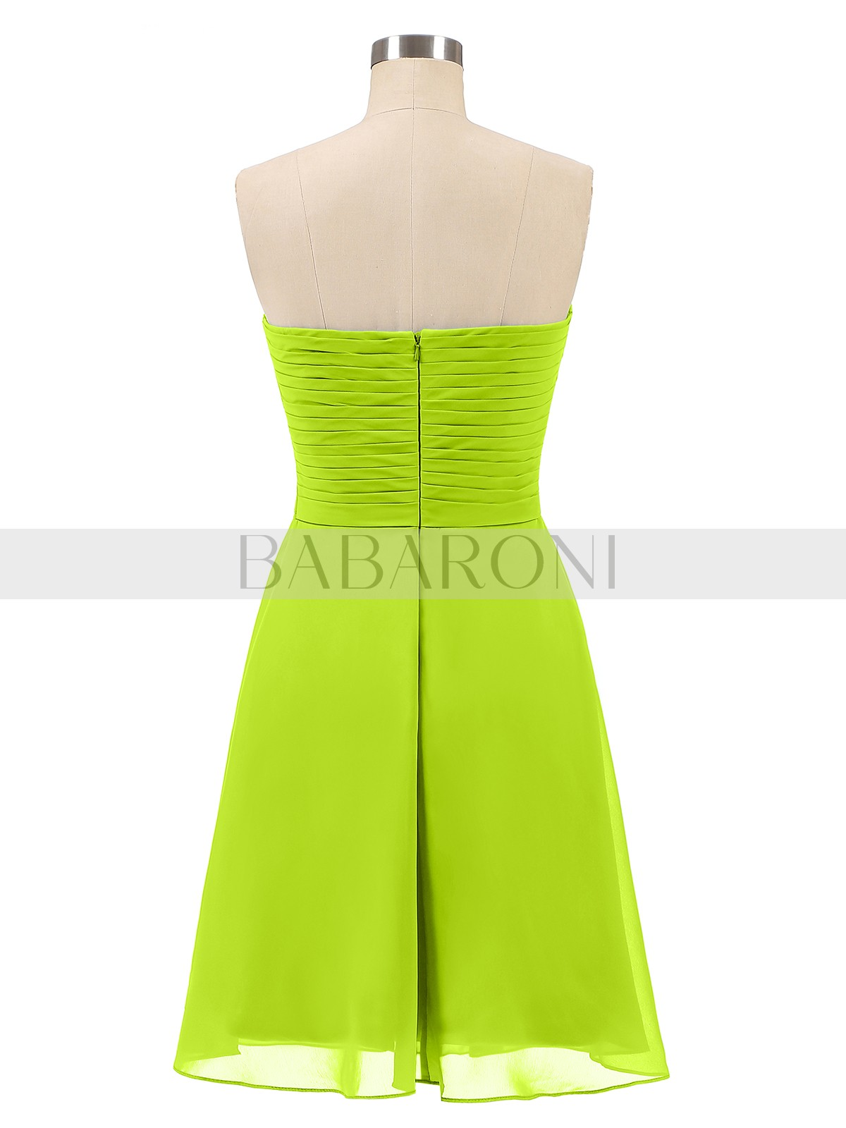 a134809c3c2 Lime Green Samantha Short Strapless Bridesmaid Dress with Sweetheart ...