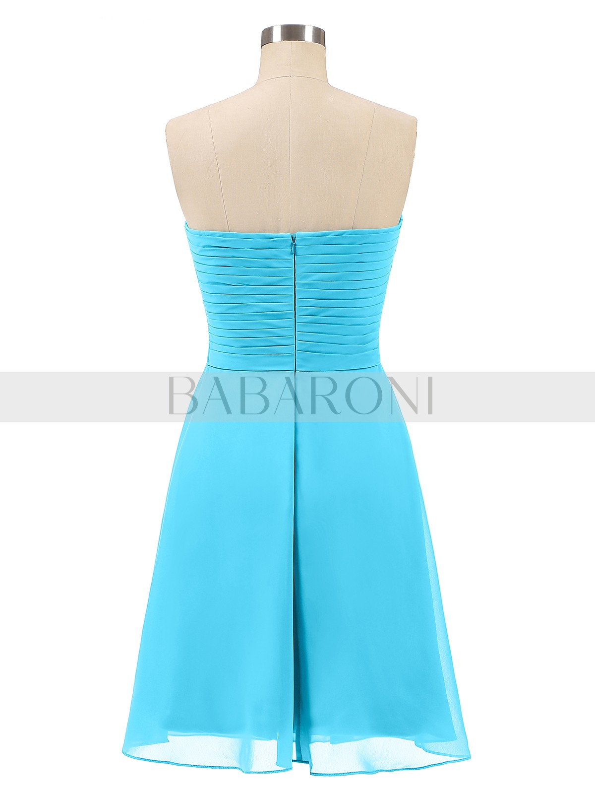34935eaff6f Pool Samantha Short Strapless Bridesmaid Dress with Sweetheart ...