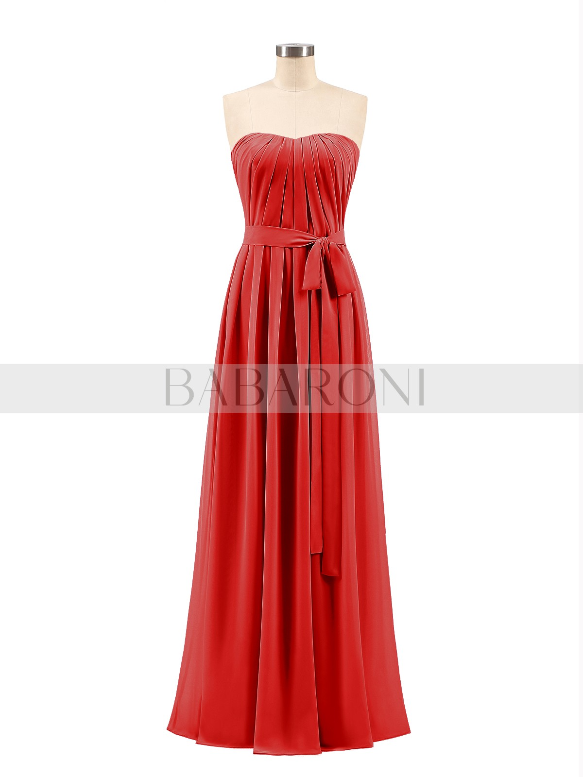 79c9197cda18 A-line Chiffon Mulberry Zipper Bow, Ruched Floor-length Strapless  Sleeveless Bridesmaid Dresses. Loading zoom