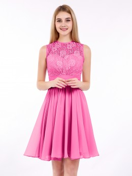 ec7e2569bba Olga Short Chiffon Bridesmaid Dress with Pocket