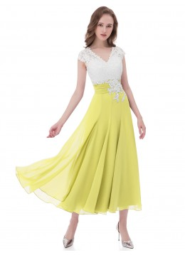 4e67175e86a Lemon Zipper Pleated Mother of the Bride Dresses   Bridesmaid ...