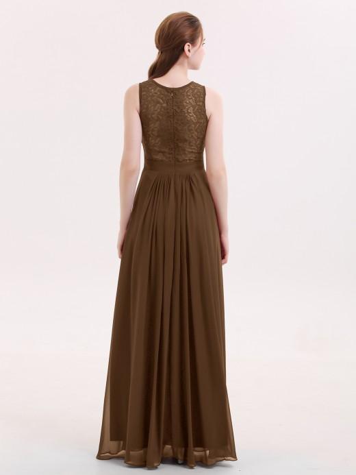 Babaroni Alice Lace and Chiffon Dress with Zipper Back