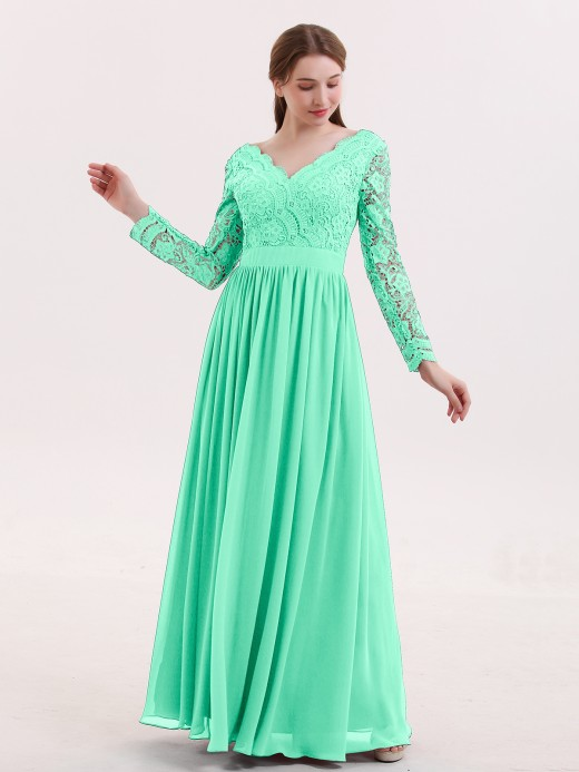 Turquoise Lace Bridesmaid Dresses Bridesmaid Gowns Babaroni