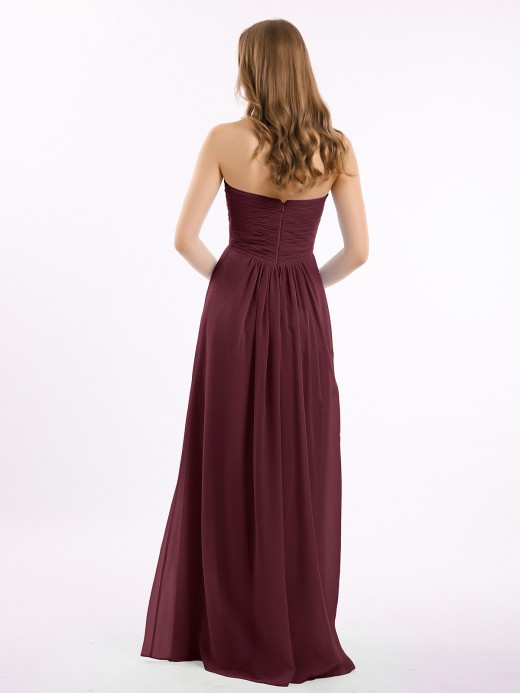 Babaroni Antonia Strapless Empire Chiffon Dresses with Sweetheart