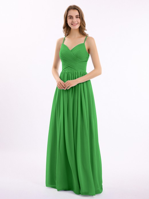 Babaroni Augusta Sweetheart Neck Chiffon Dress with Spaghetti Strap