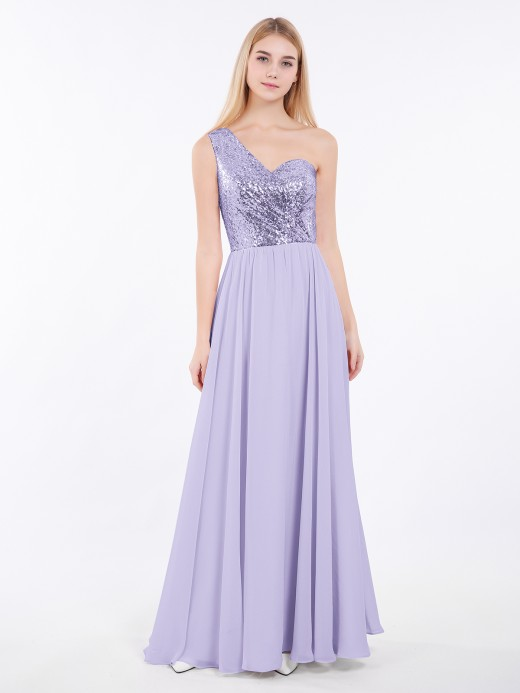 Babaroni Belle Sequins Bodice Chiffon Skirt Dress