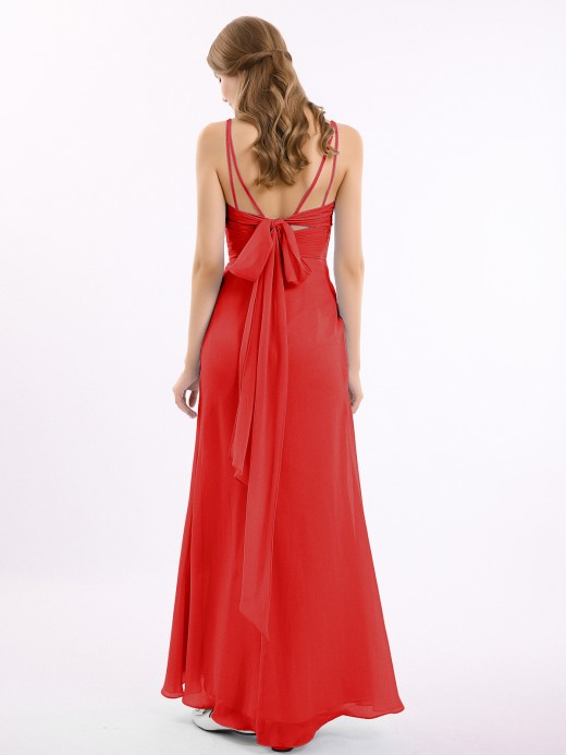 Babaroni Bernice Sweetheart Neck Chiffon Gown with Double Straps
