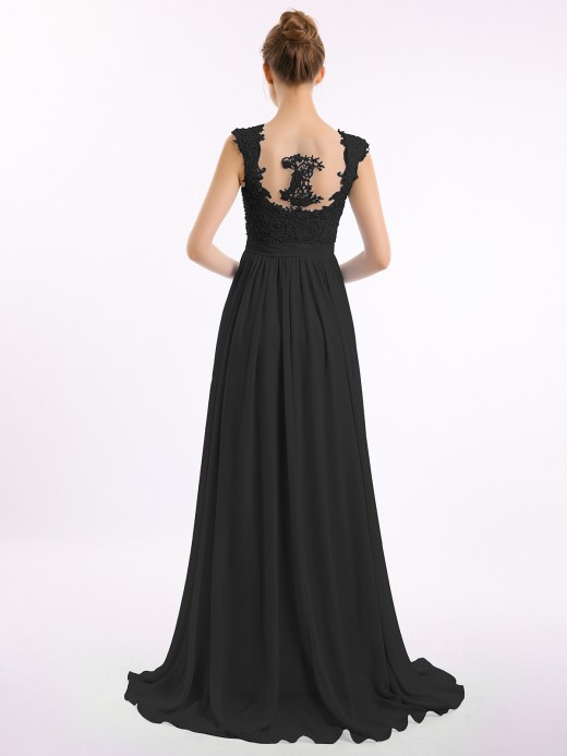 Babaroni Brook Appliqued and Beaded Dress with Sweetheart Neck