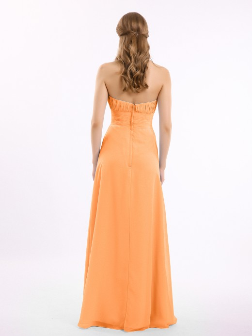 Babaroni Brooke Straight Across Neck Chiffon Bridesmaid Dress