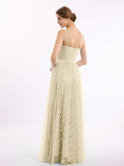 Babaroni Bryony V-neck Lace Lining And Tulle Dresses
