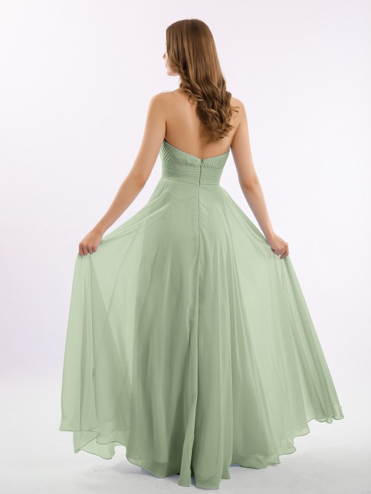 Babaroni Camila Strapless Chiffon Pleated Bridesmaid Gowns