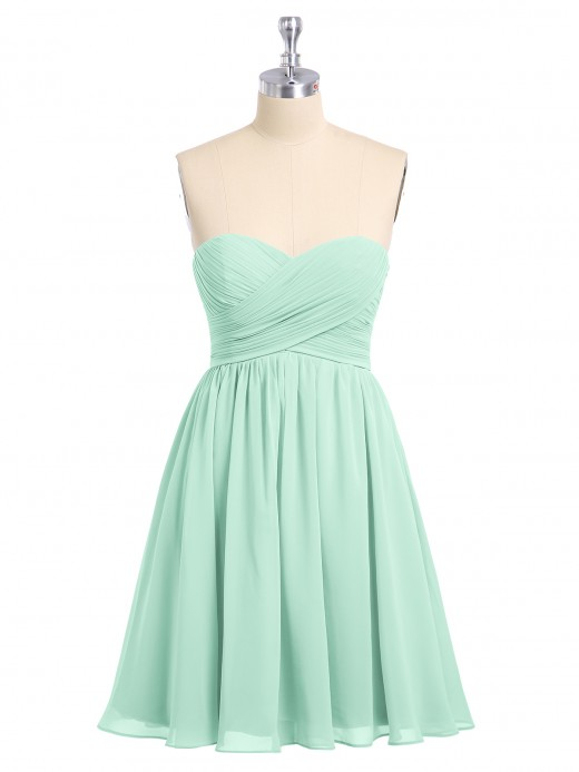 Babaroni Candice Strapless Sweetheart Neck Short Bridesmaid Gown