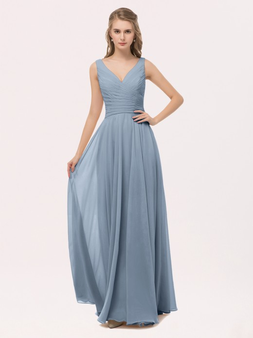 fd957c77800e Dusty Blue Bridesmaid Dresses & Bridesmaid Gowns | BABARONI