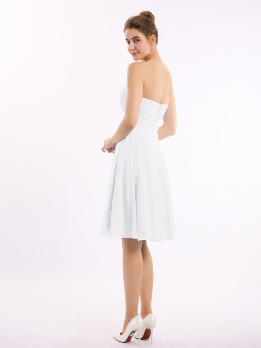 Babaroni Deirdre Straight Across Strapless Short Bridesmaid Gown