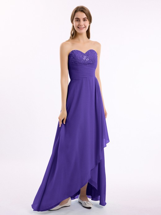 Babaroni Dominic Strapless Sweetheart-neck Long Dress with Beaded