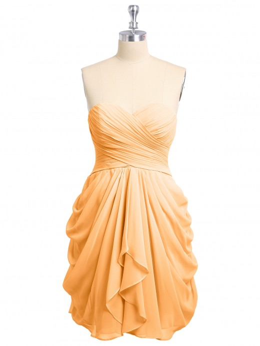Babaroni Doreen Sweetheart Neck Strapless Short Bridesmaid Dress