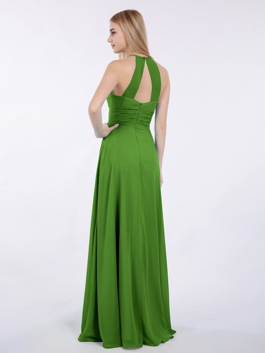 Babaroni Doris Halter Chiffon Maxi Dress of Bridesmaid