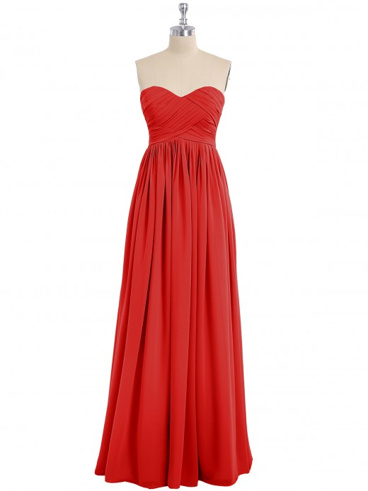 Babaroni Dorothy Strapless Empire Bridesmaid Gown with Sweetheart