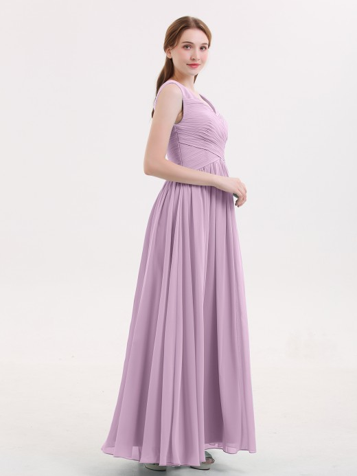 5be92a10cbbbd Wisteria V-neck Bridesmaid Dresses & Bridesmaid Gowns | BABARONI