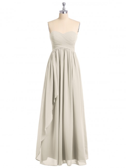 Babaroni Edwina Sweetheart Neck Empire Chiffon Bridemsiad Gown