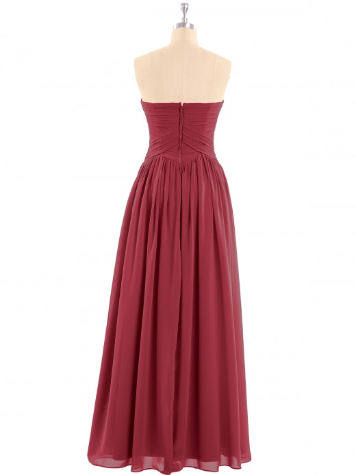 Babaroni Eileen Chiffon Bridesmaid Dresses Cross-Pleated Bodice