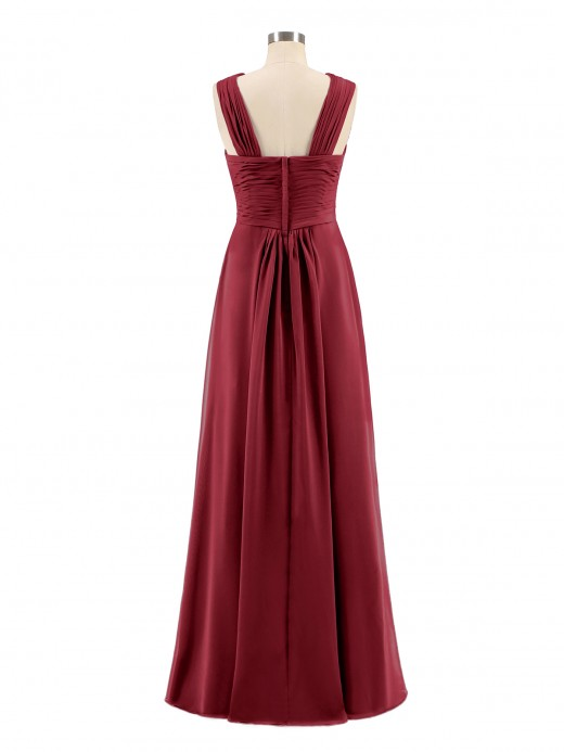 Babaroni Eleanora Cross Shoulder Strap Chiffon Dress with Empire Waist