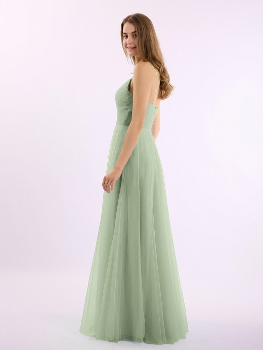 Elva Spaghetti Strap Long Tulle Dress with Sweetheart US12