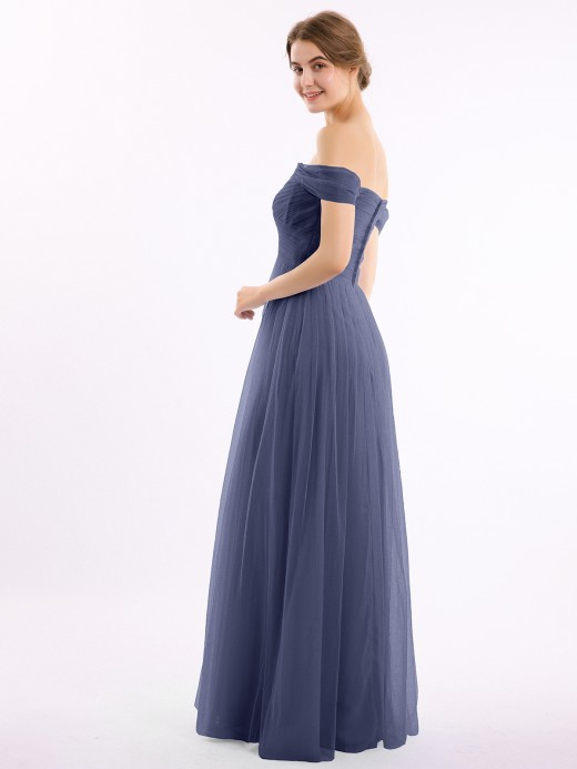 Babaroni Eunice Off the Shoulder Sweetheart Neck Tulle Dress