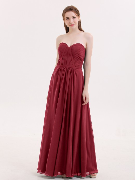 Babaroni Evangeline Strapless Bridesmaid Dress with Sweetheart Neck