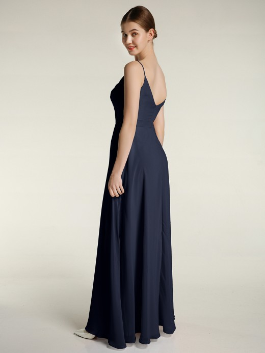 Babaroni Felicia Spaghetti Straps Chiffon Gowns with Sweetheart
