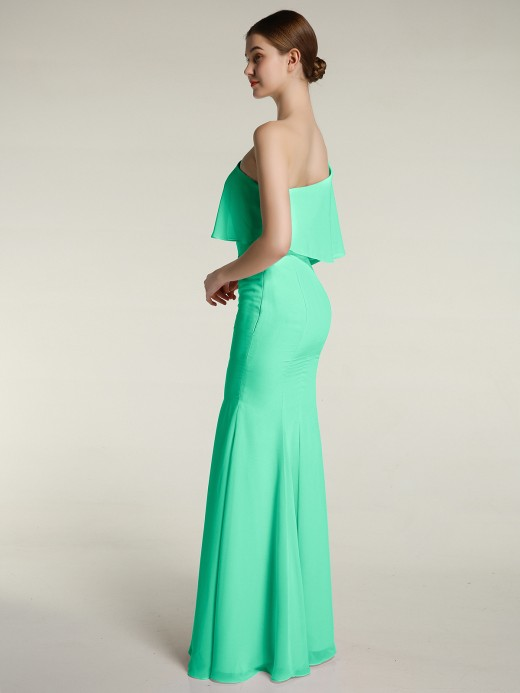 Babaroni Flora One Shoulder Mermaid Dresses with Slit